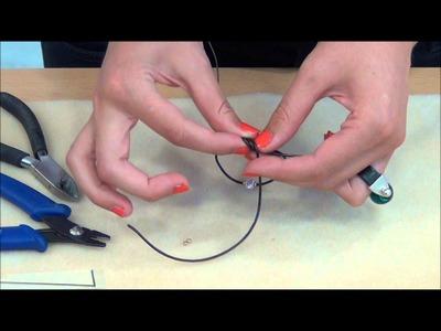 TUTORIAL DIY: Como se hace una pulsera de cuero fino con bola de strass de Swarovski