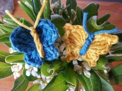 Tutorial mariposa básica dos modelos crochet.ganchillo