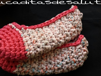 Zapatillas a Trapillo ¡¡ Tutorial DIY !! Paso a Paso.