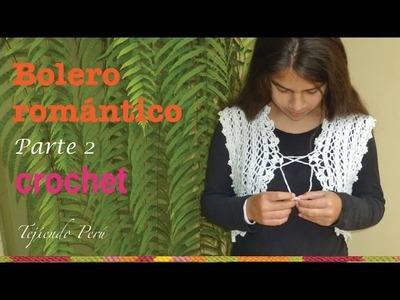 Bolero romántico para damas tejido a crochet de 1 pieza.  sin costuras! (Parte 2)