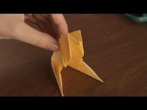 Como Hacer una Esfinge en Origami : Figuras Basicas en Origami
