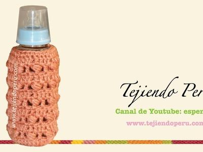 Cubre biberón tejido en crochet