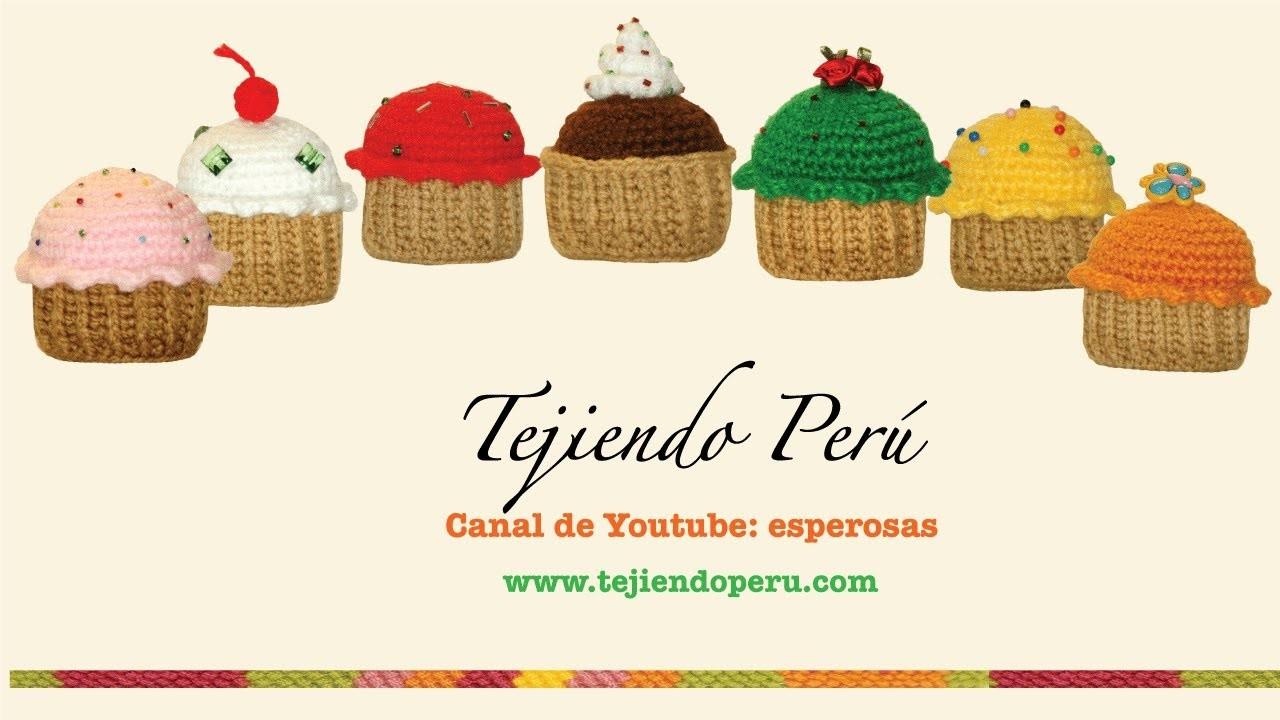 Cupcakes o pastelitos tejidos en crochet (amigurumi)