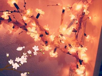 Diy decora tu habitación lámpara de árbol floral