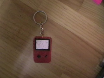 Gameboy de hama beads mini con telar cuadrado