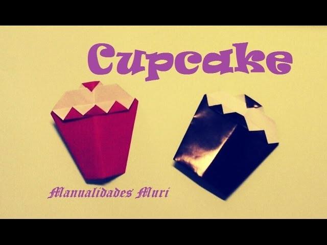 Origami - Papiroflexia. Delicioso cupcake muy fácil de hacer