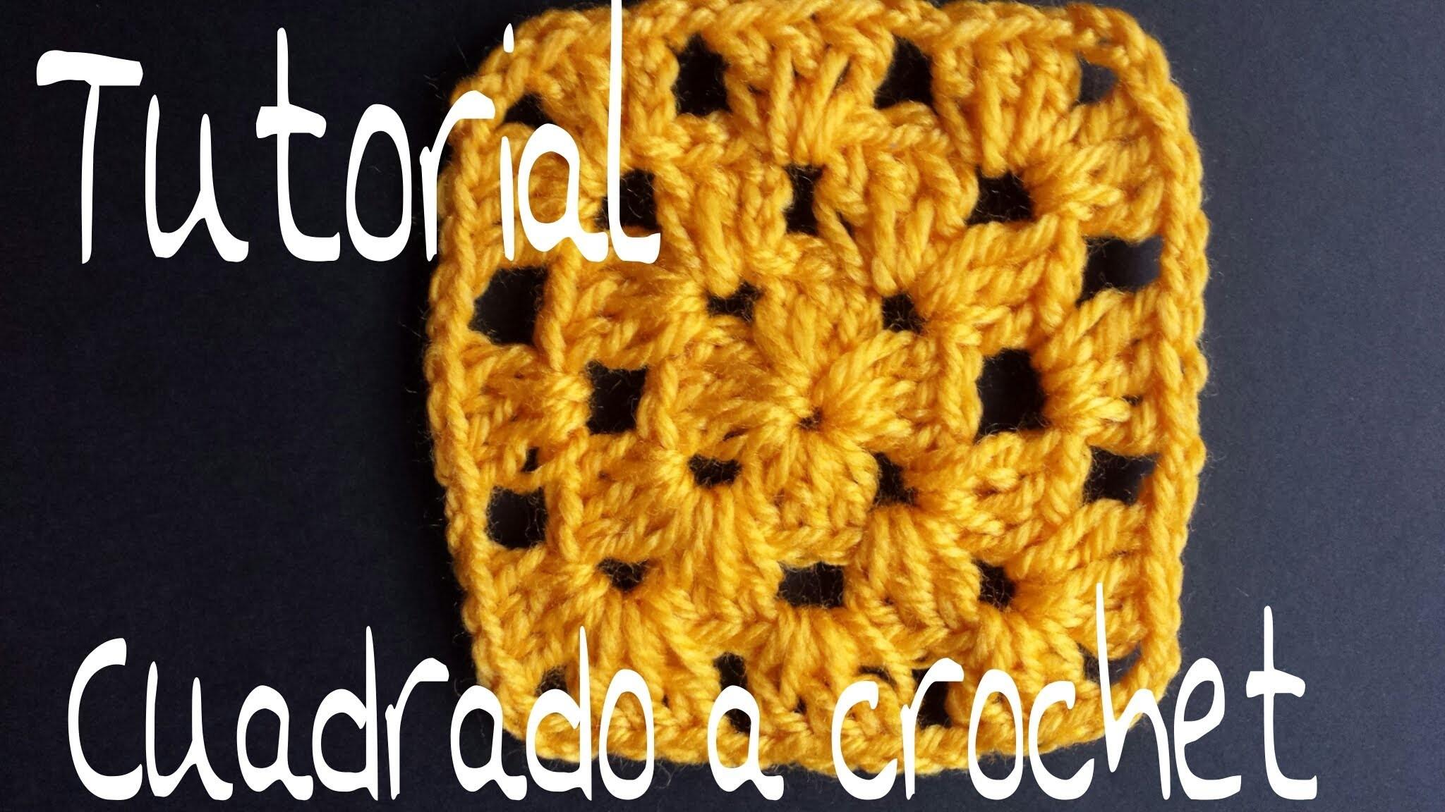 Tutorial Cuadrado a crochet paso a paso