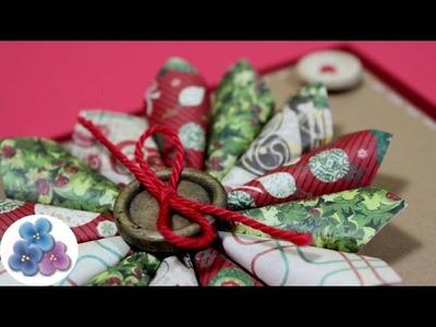 Como Hacer Tarjetas de Navidad con Recortes Tutorial Tarjetas Navideñas DIY Scrapbook Pintura Facil