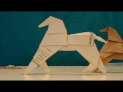 Como hacer un caballo de origami fácil y rápido