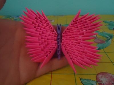 Como hacer una mariposa de origami 3d