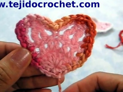 Corazón san valentín en tejido crochet tutorial paso a paso.