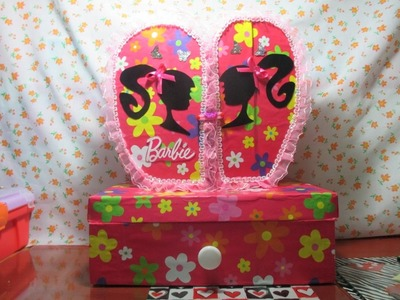 DIY: JOYERO DE BARBIE GIRL EN FORMA DE CORAZON HECHO DE CARTON