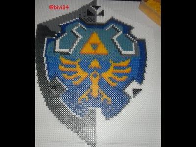 Escudo Link Hama Beads Midi
