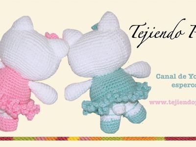 Hello Kitty tejida a crochet (amigurumi) Parte 5: orejas y colita