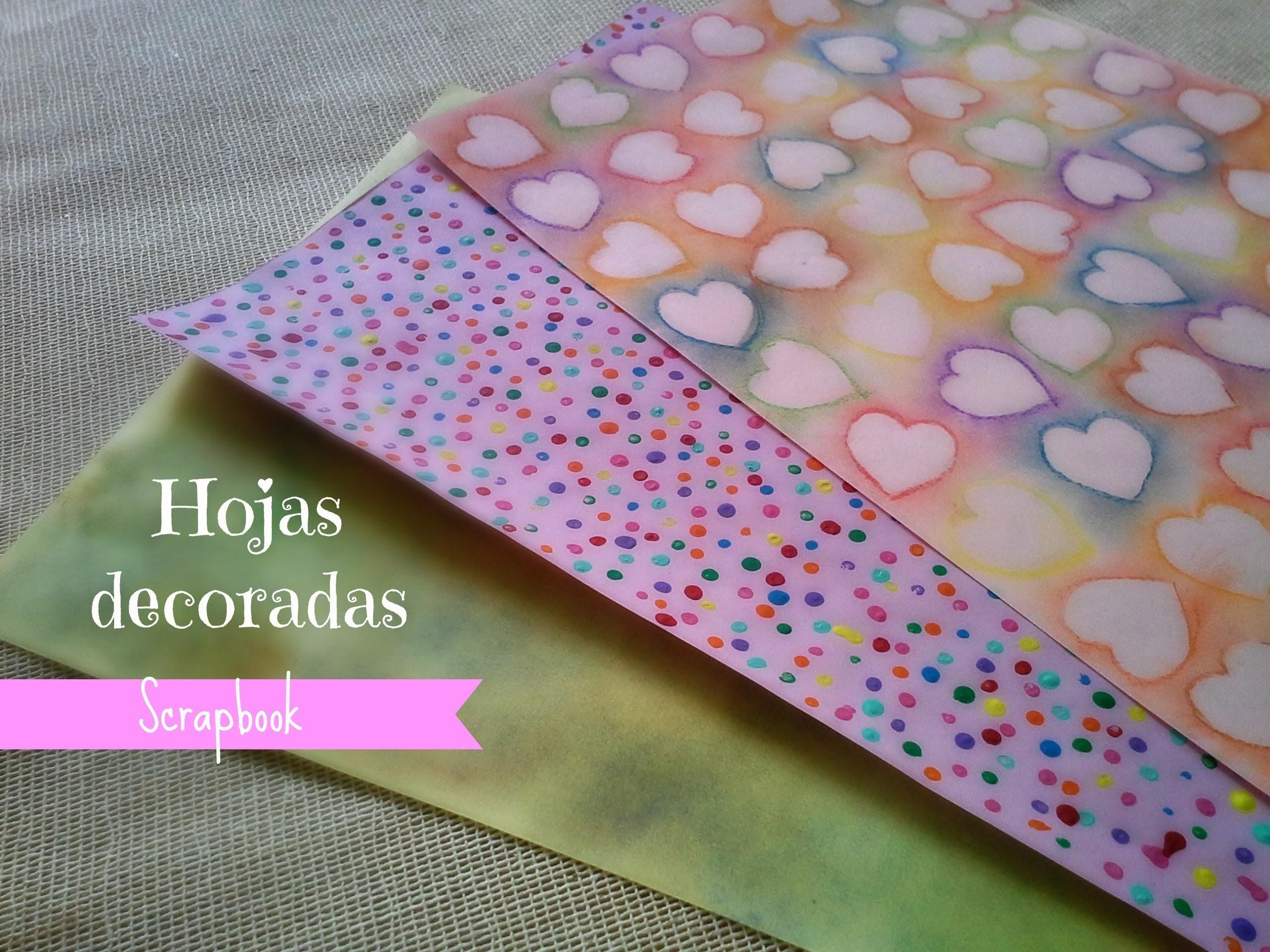 Hojas decoradas (Scrapbook) + FÁCIL