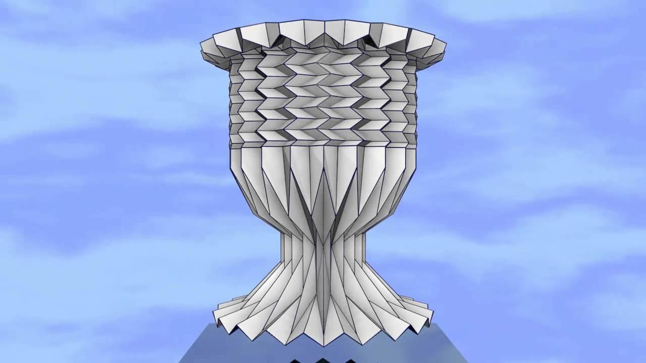 ORIGAMI COPA. DOBLEZ HORIZONTAL Y VERTICAL. ORIGAMI CUP. HORIZONTAL AND VERTICAL FOLD