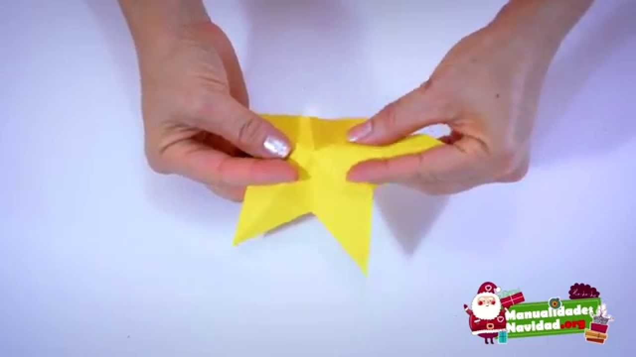 Origami estrella de 5 puntas paso a paso - Origami de una estrella ...