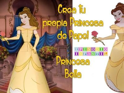 Papercraft: Figura de papel princesa Bella en 3D