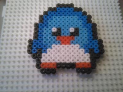 Pingüino de Estilo Kawaii de Hama Beads