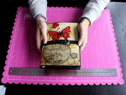 Presentacion Taller presencial scrapbooking Fotofolio Steampunk Botanica Bellaluna crafts