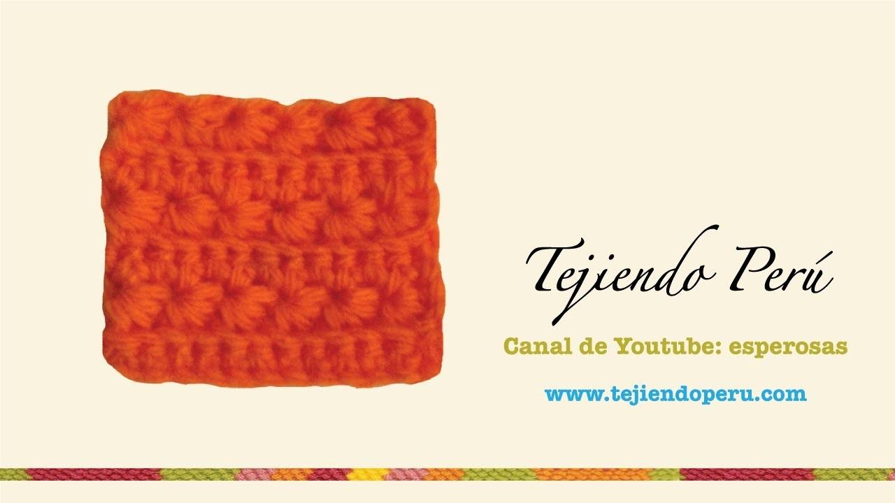 Punto fantasía # 10 flores de manzanilla a crochet