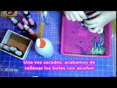 SCRAPBOOKING - ESPAÑOL- 2: Tintas alcohol spray