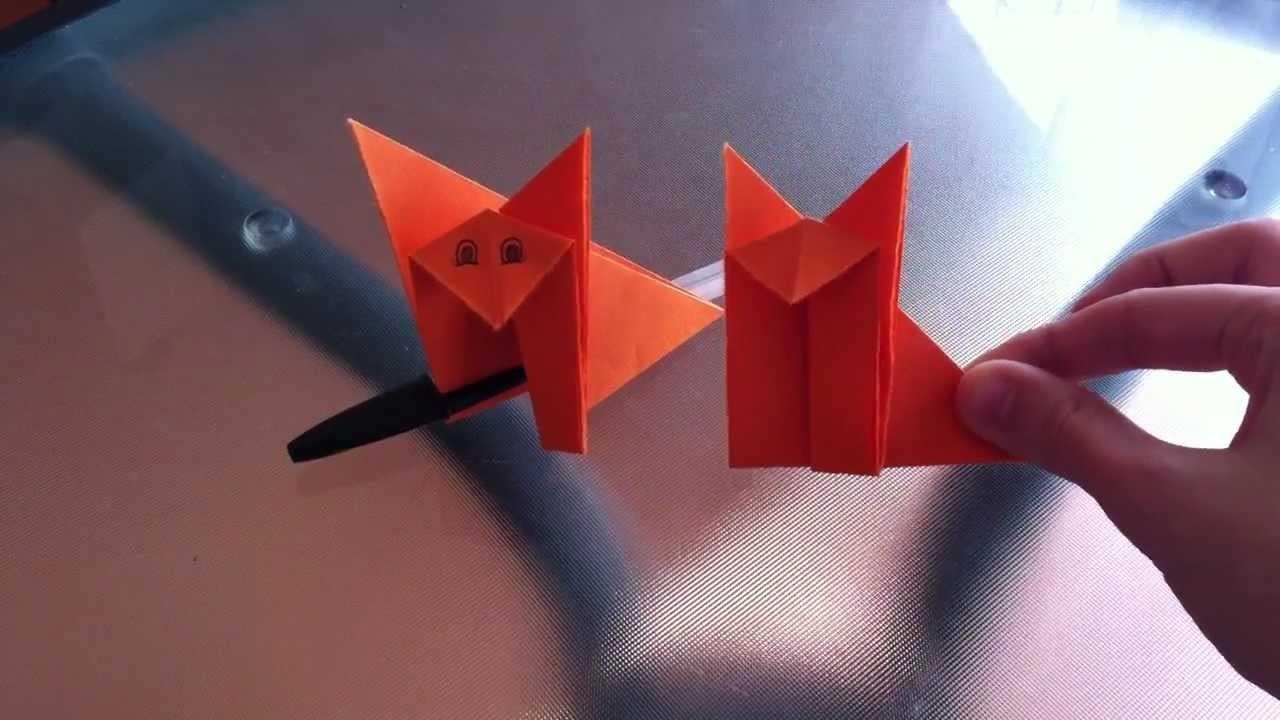 Tutorial de origami: cómo hacer un gato de papel - Hacer un gato de origami paso a paso