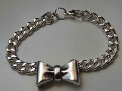 Tutorial DIY como hacer una pulsera lazo. Pulsera lazo. Bracelet Bow.