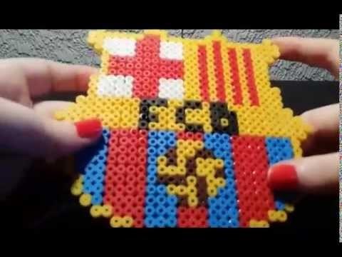 TUTORIAL: Escudo FC Barcelona de Hama Beads 2.2 + Saludos