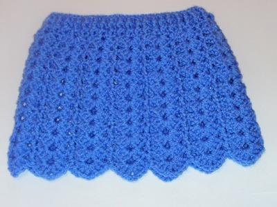 Tutorial falda bebé fácil crochet punto fantasía calado y muestra falda muñeca