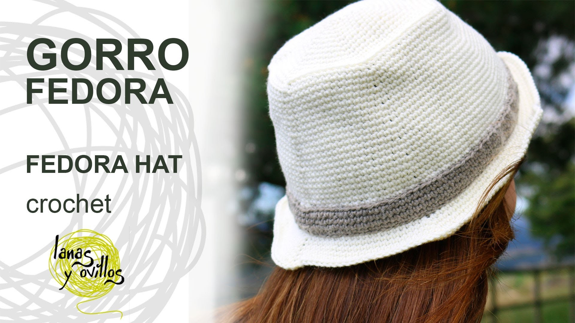 Tutorial Gorro Fedora Unisex Crochet o Ganchillo Hat (English Subtitles)