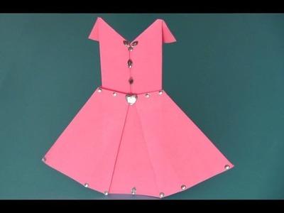 Vestido de papel (origami)