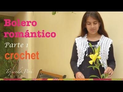 Bolero romántico para damas tejido a crochet  de 1 pieza.  sin costuras! (Parte 1)