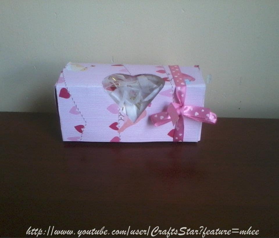 Cajita Scrapbook + Detalle + Dulces ( Manualidades Para San Valentin 1