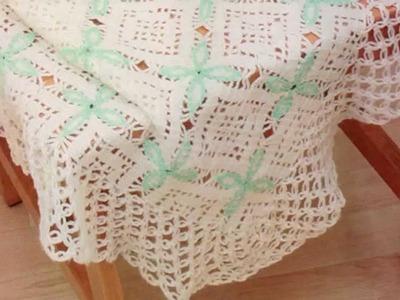 Como Tejer Cobijita con Detalles a crochet Alto grado de dificultad