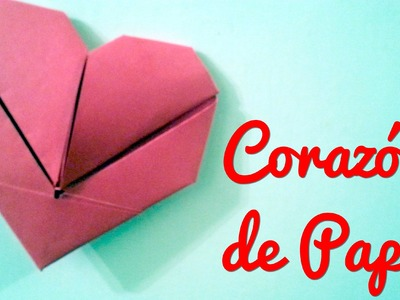 Corazon De Papel Origami | Manualidades Para Regalar