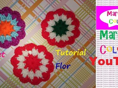 """Crochet Flor """"Alma"""" Aplicación para decorar Diademas, Gorros por Maricita Colours"""