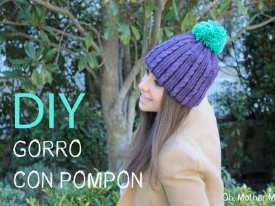 DIY Gorro de lana con pompón
