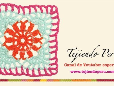 Granny cuadrado calado fácil y rápido de tejer a crochet