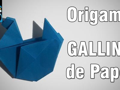 Origami   Como hacer una Gallina de papel [El Dibujante]