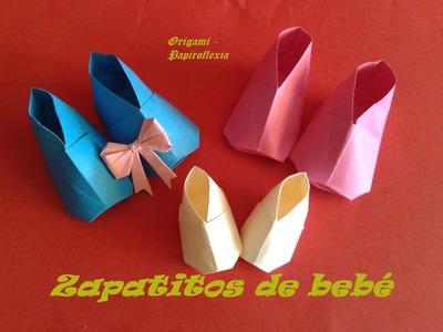 Origami - Papiroflexia. Zapatitos de bebé, muy fácil