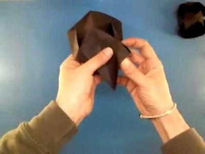 Papiroflexia: cómo hacer una cesta de origami