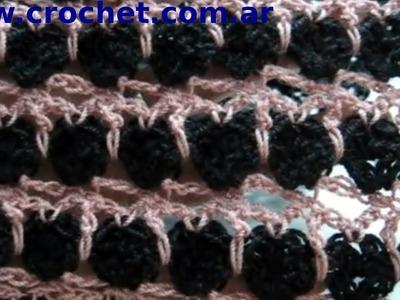 Punto fantasía N° 24 en tejido crochet tutorial paso a paso.