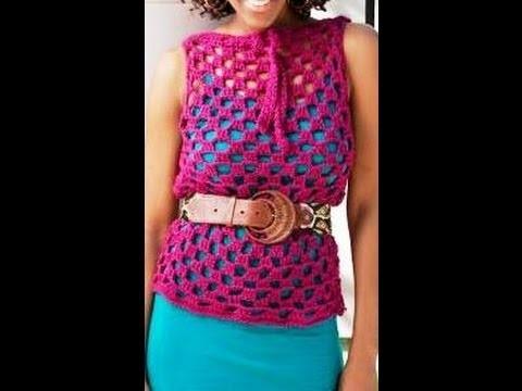 Tunica en #crochet para encima de blusa -  video 1