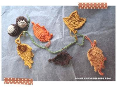 Tutorial Crochet: Hoja de ganchillo fácil paso a paso