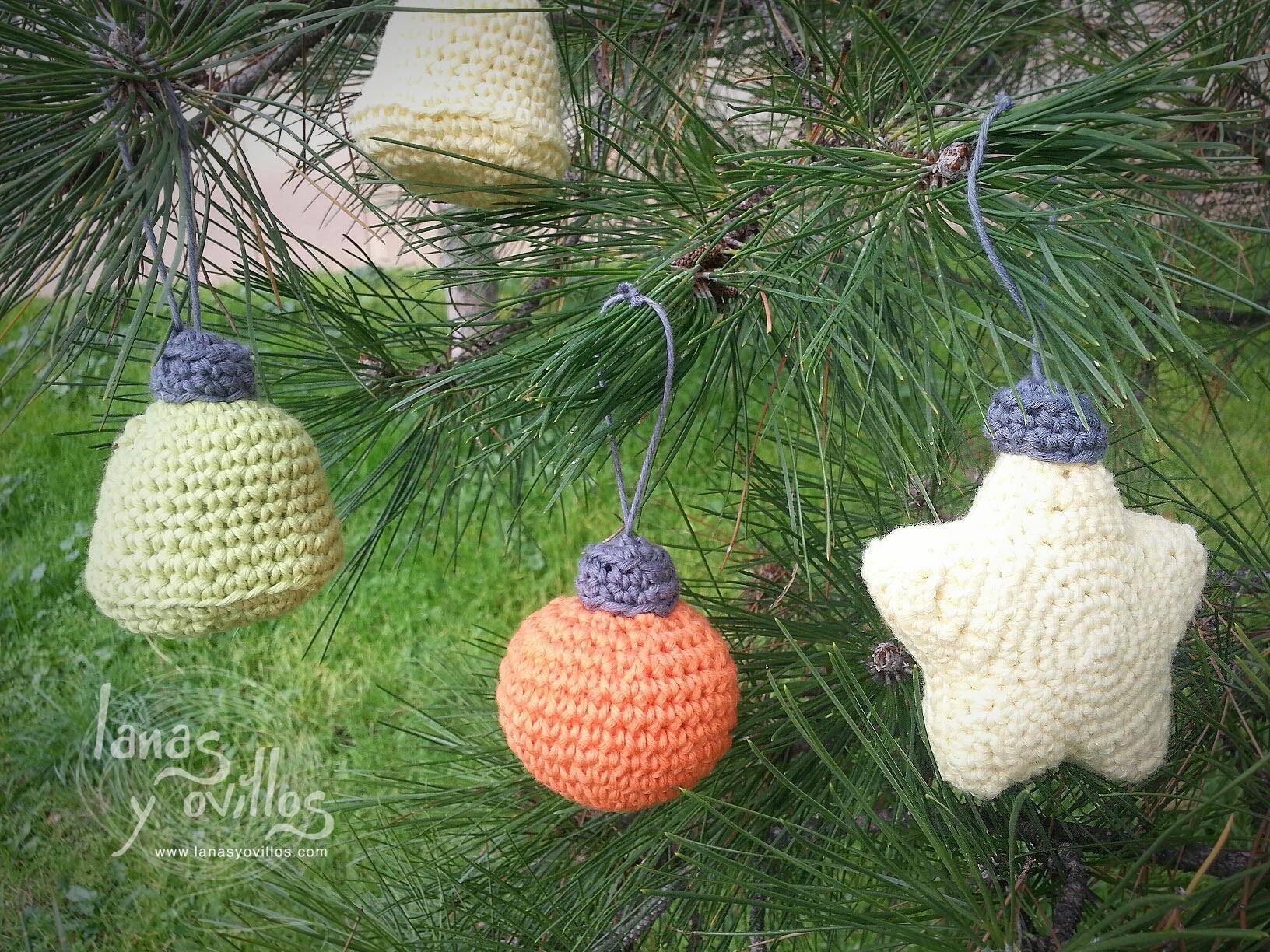 adornos de navidad de ganchillo Tutorial Pieza Adorno Rbol De Navidad Crochet O Ganchillo