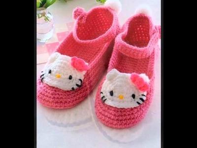 Zapatillas a crochet para niñas
