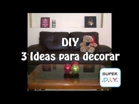 3 Ideas para decorar en navidad fáciles, económicas y rápidas. DIY