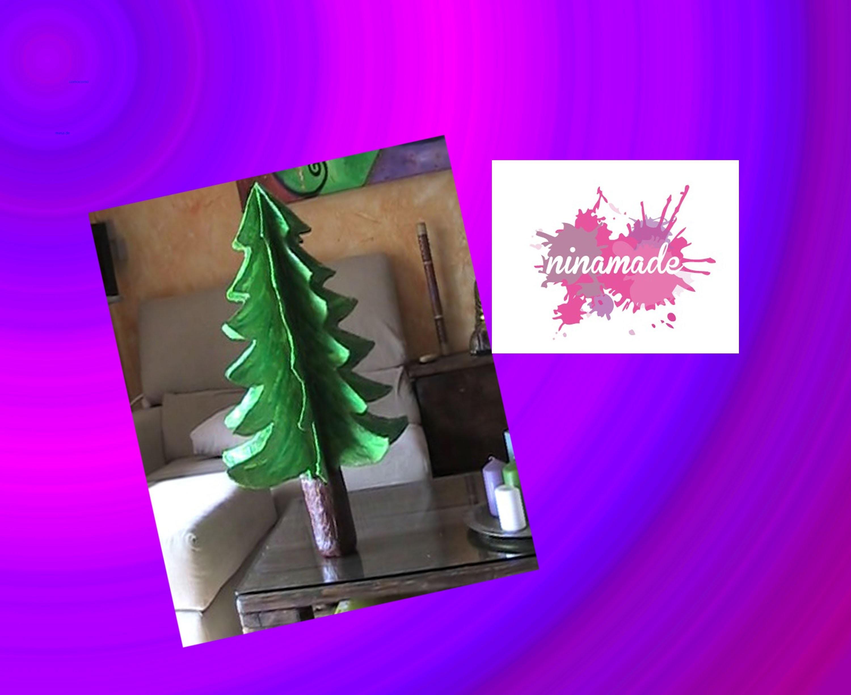 Adornos navideños: como hacer un árbol de Navidad de papel maché