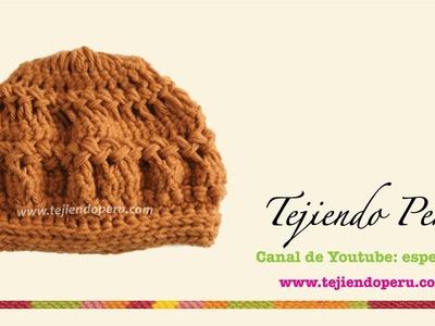Boina tejida en horquilla (hairpin lace) Parte 2